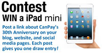 Win a free iPad Mini with CanPay's 30th Anniversary Contest
